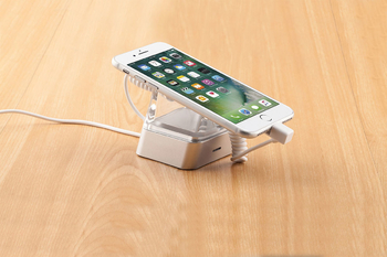COMER new acrylic display cellphone security charger display anti theft  devices solutions