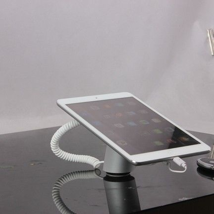 COMER NEW arrival anti-theft retail single silver anti-theft alarm display holder for ipad tablet security experience