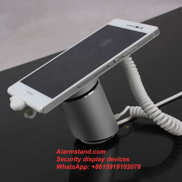 COMER security protection for single one port alarm for iphone with charging stand exhibition