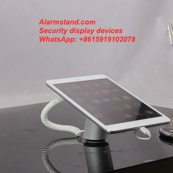 COMER security protection for single one port alarm for iphone with charging stand exhibition - Comerstand.com