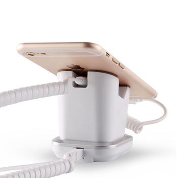 COMER cell phone stores display charging and alarm sensor stand for mobile phone digital shops
