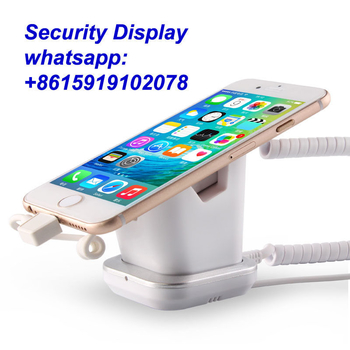 COMER  anti-lost cell phone display charging and alarm sensor stand for mobile phone stores