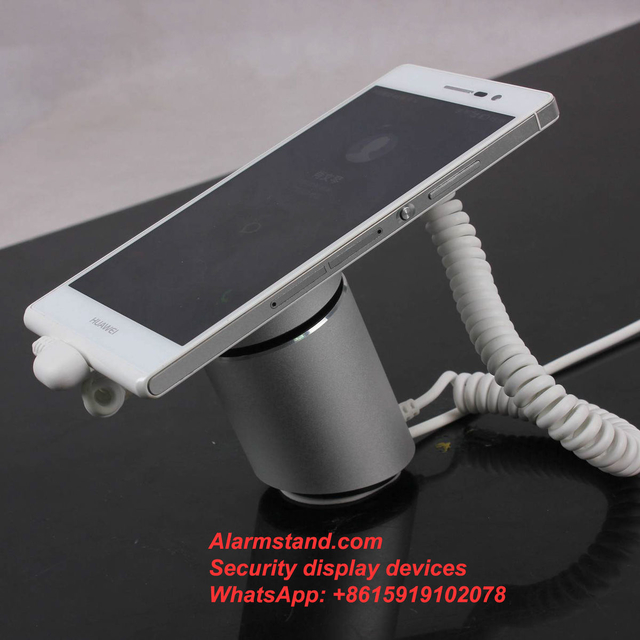 COMER anti-theft cable lock retractable Secure Display Stand Mobile Phone Security Alarm Lock brackets