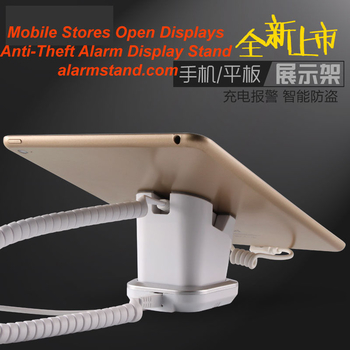 COMER  anti-lost stores mobile phone display charging and alarm sensor stand for digital stores