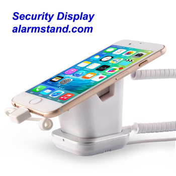 COMER security stores mobile phone display charging and alarm sensor stand