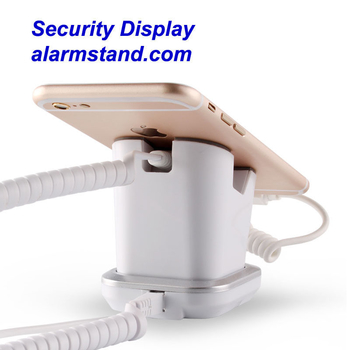 COMER cell phone display charging and alarm sensor stand