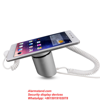 COMER with charge system and security anti theft alarm display stand holder rack for cellphone with lock cable