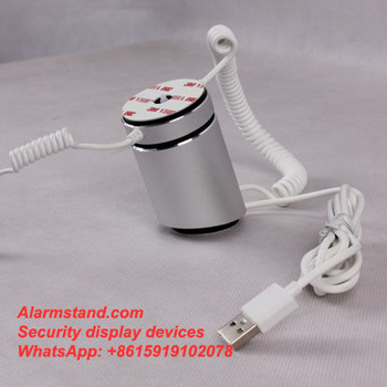 COMER with charge system and security anti theft alarm display stand holder rack for cellphone with lock cable - Comerstand.com