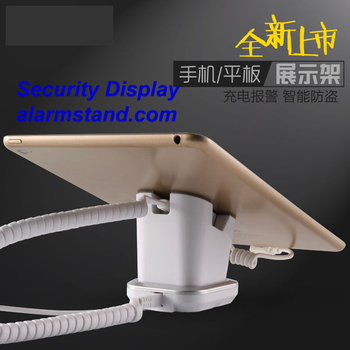 COMER mobile phone shops display charging and alarm sensor tablet computer magnetic stand with charging cable