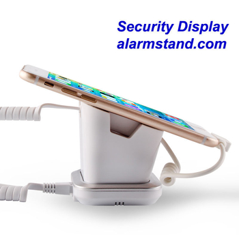 COMER mobile phone shops display charging and alarm sensor tablet computer magnetic stand with charging cable - Comerstand.com