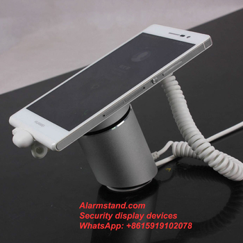 COMER alarm support for mobile phone anti theft stand alone mobile phone security display holder with loud alarm
