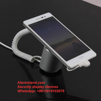 COMER Low cost retail strore security anti theft display stand holder for mobile phone cell phone with loud alarm system