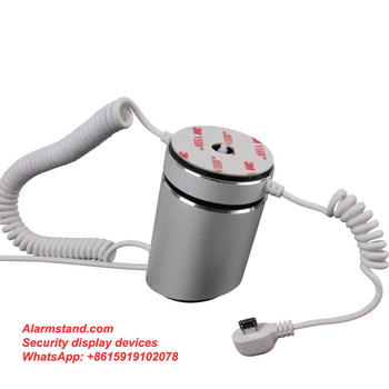 COMER security alarm anti-theft desktop display devices for gsm mobile telephone with alarm sensor and micro charge cord - Comerstand.com