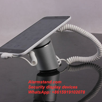 COMER Hot sales anti-theft alarm mobile phone display security stand with alarm sensor cord