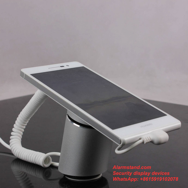 COMER Mobile phone display stand security alarm system tablet security stand with alarm sensor cord