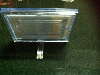 COMER Transparent Acrylic Display Sheet Board Panel for Inserts, Tag, Brochure, Leaflet, Catalog