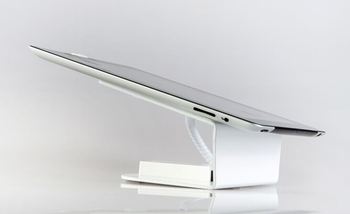 "COMER small 7"" 8"" tablet security display charging and alarm magnetic stand with lock - Comerstand.com"